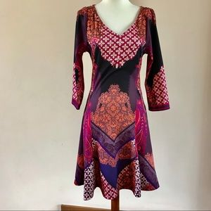 HALE BOB PAISLEY FITTED DRESS